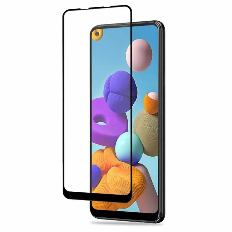 Захисне скло Glass Samsung A21S, A217 Full Glue black