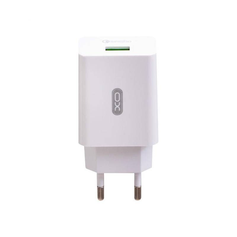 Зарядний пристрій XO L36 1 USB 3000 mA QC 3.0 quick charge white