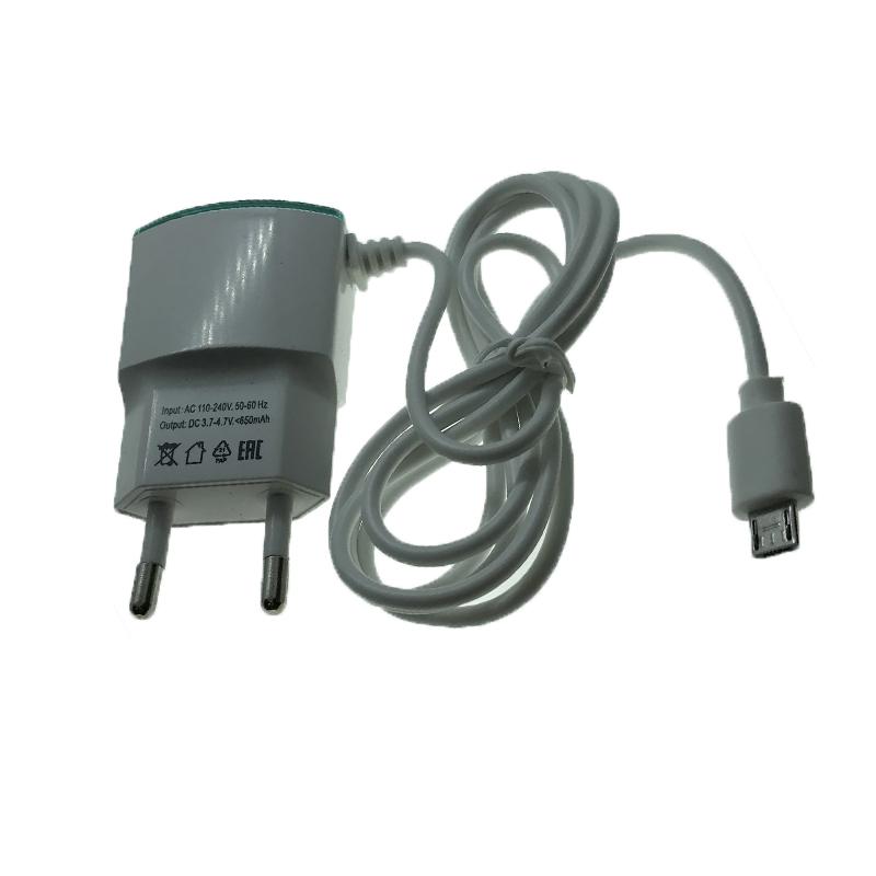Зарядний пристрій microUSB SCL Econom 650 mA white