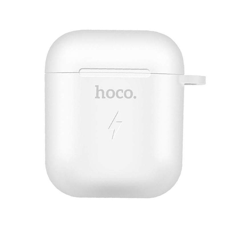 Чохол для Apple Airpods, Airpods 2 з бездротовим зарядним Hoco CW22 white