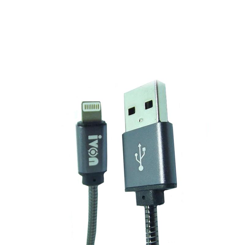 USB кабель Ivon CA-38 Lightning 30 см silver