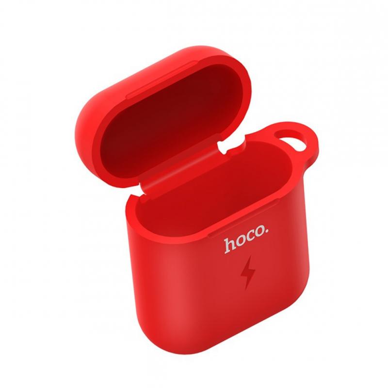Чохол для Apple Airpods, Airpods 2 з бездротовим зарядним Hoco CW22 red