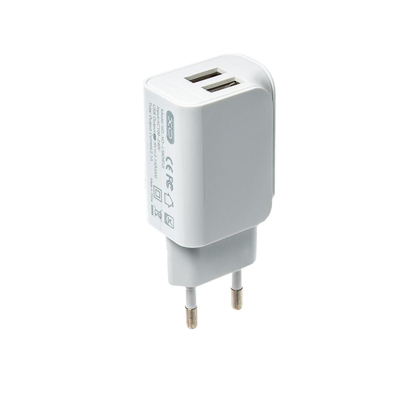 Зарядний пристрій XO L35D 2 USB 2100 mA white