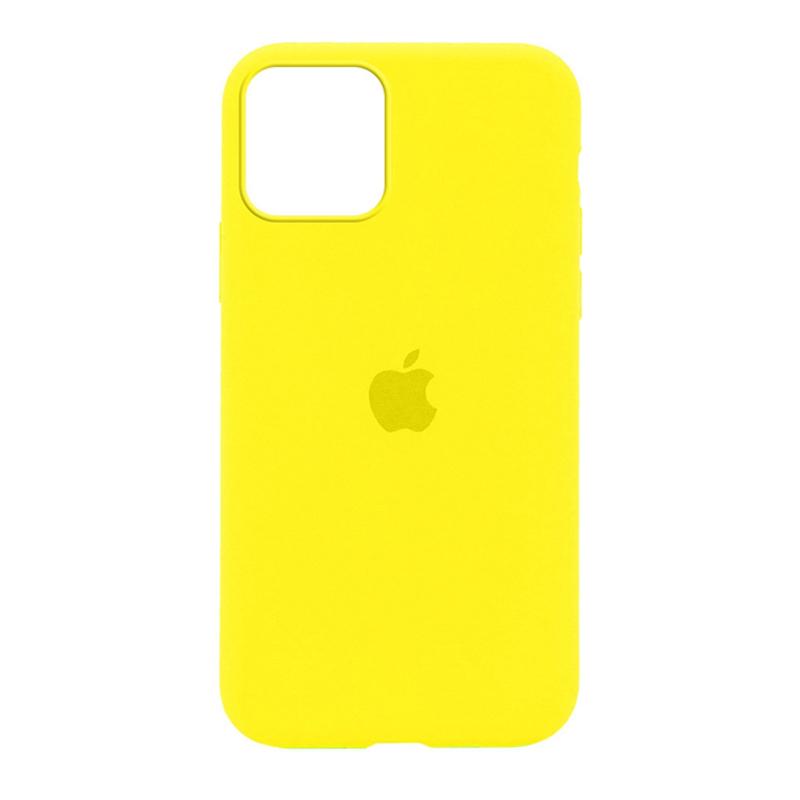 Накладка Original Silicone Case iPhone 11 (32 yellow lime) Full
